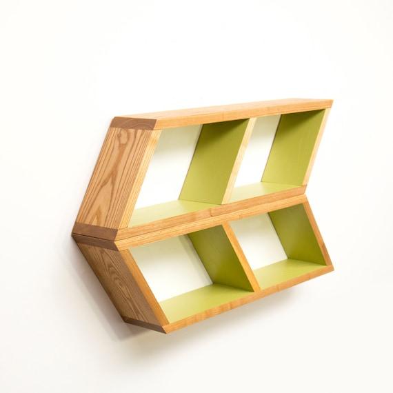 floating chevron shelves mid century modern shelving arrow. Black Bedroom Furniture Sets. Home Design Ideas