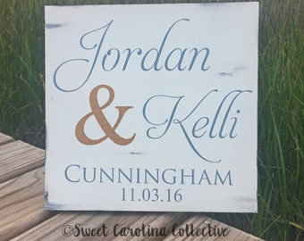 First and Last Name Anniversary Sign - Home Decor HD-33