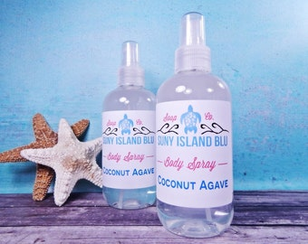 Coconut Agave Body Spray - Body Mist - Agave Body Spray - Spray Perfume - Vegan Body Spray - Moisturizing Body Spray