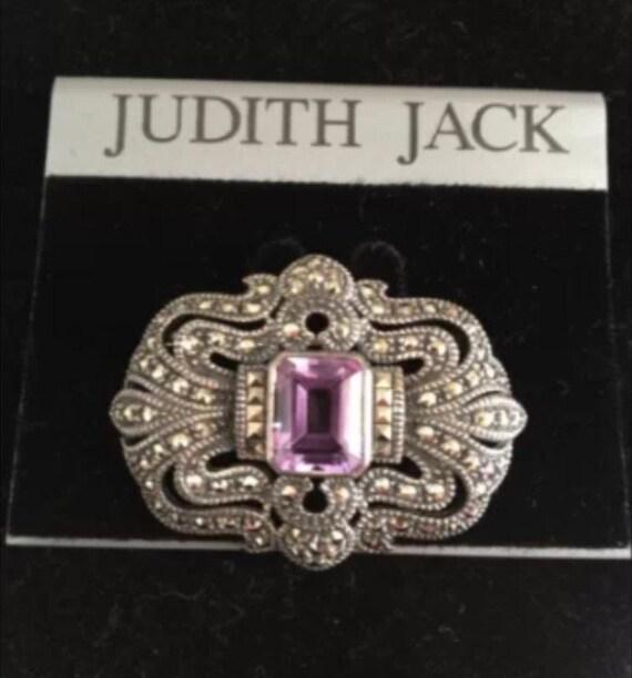 Vintage Judith Jack Marcasite Brooch