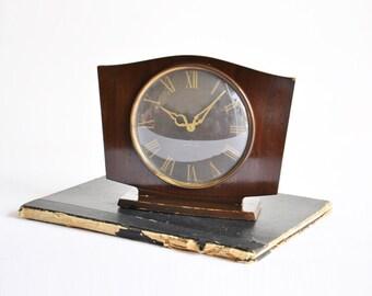 Art Deco Westclox Wooden Clock - Made in Scotland