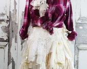Western Wedding, Fairy Lace Wrap Skirt, Tattered Lace Skirt, Country Cowgirl Skirt
