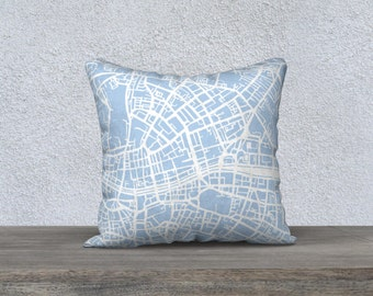 Dublin Map Pillow Cover