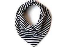 Navy stripe drool bib bandana bib jersey neck scarf from newborn to toddler
