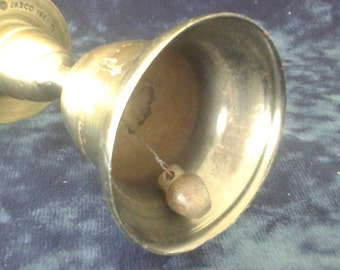 Vintage Brass Bell - Candle Stick Combination - Altar Bell