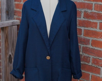 Small Vintage Blazer Joanna Navy Blue Perfect Condition