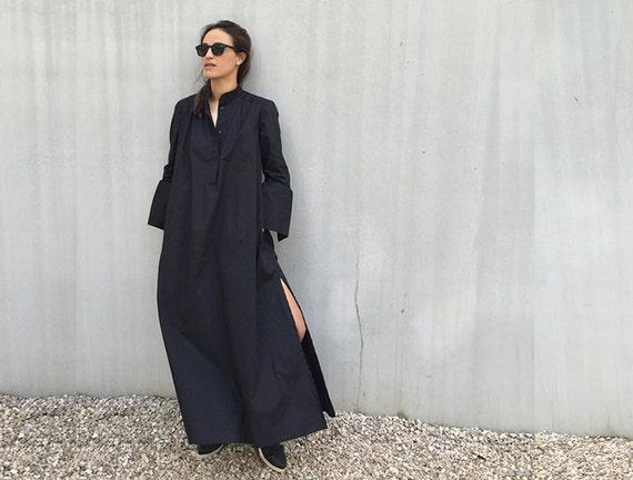 Kaftan Dress Long Black Dress Plus Size Clothing Caftan