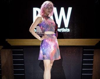 Nusakan - Galaxy Crop Top + Skirt