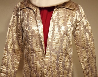 Silver And Gold Champagne Bubble Coat