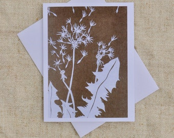Dandelion- Blank Greeting Card