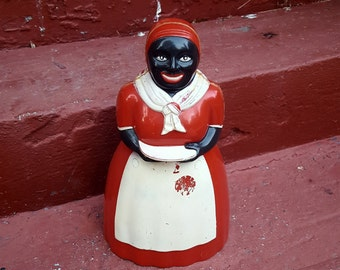 "11.5"" Tall Vintage Aunt Jemima / Mammie Cookie Jar/Storage Container"