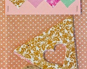Heart Bunting Pack: Gold, Pink, Floral and Green