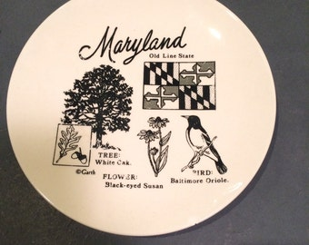 Maryland Collectible Souvenir State Plate