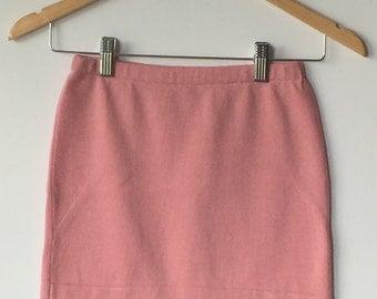 Wool skirt, bum warmer, mini skirt, made from a soft pink sweater