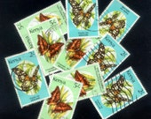 10 Kenya Butterfly Stamps for Crafts, Handmade Cards, Artist Trading Cards, Altered Books, Collage