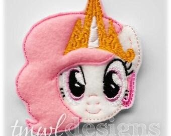 "Celestial Pony Head Feltie Digital Design File - 1.75"""