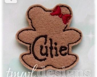"""Cutie Bear Feltie Digital Design File - 1.75"""""""