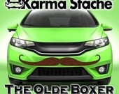 """48"""" Car Mustache Vinyl Decal Sticker - Style; Olde Boxer - Color; Brown  -  Karma Stache: Your #1 Source for Car Mustaches!"""
