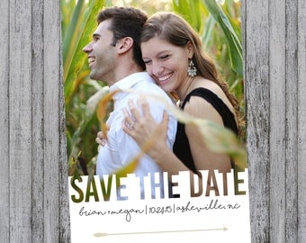 Modern Save the Date with Photo, 4x6 or 5x7 Save the Dates, Simple Save the Date