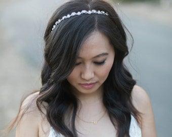 Crystal Headband Wedding - Bridal Headband - Crystal Bridal Band - Photo Prop - Wedding Headpiece - Bridal Headpiece - Bridesmaid