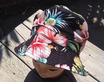 Hawaiian Floral Bucket Hat.