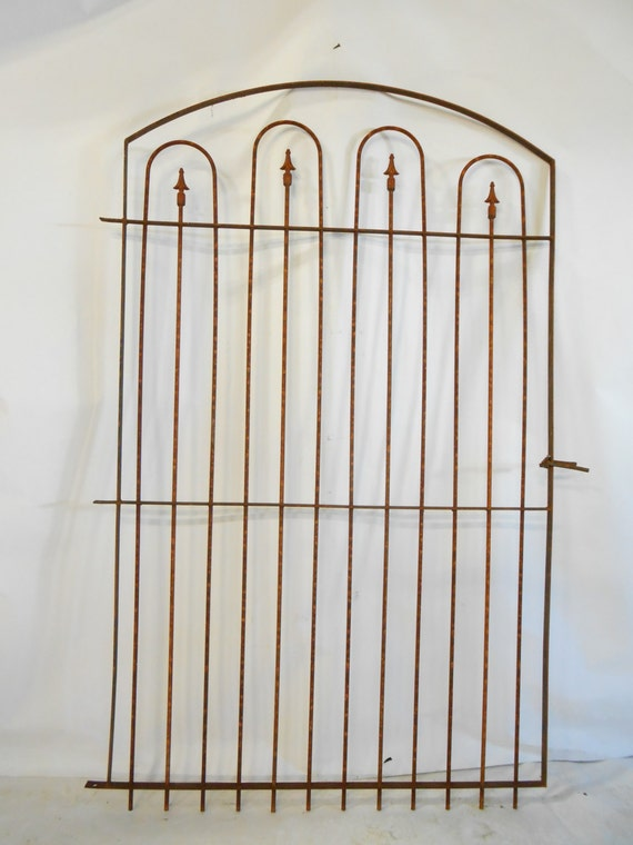 Custom Made 4' Wide Wrought Iron Gate that Works with our 6' Fence