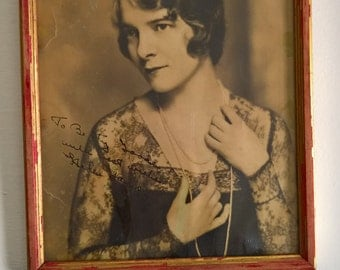Vintage Helen Hayes Autographed Photograph --- First Lady of American Theatre American Actress 1930's Hollywood Collectable Film Memorabilia
