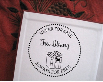 Self- inking  Free Library Stamp,  Personalized Book Stamp, Custom Book Stamp, Ex Libris Stamp,  Free Library