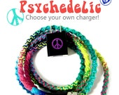 Tie Dye iPhone Charger - Custom Rainbow Hippie Wrapped USB Sync Cable - iPhone 7, Airpods, iPad, iPod, Android Micro USB Phone Charger Cord