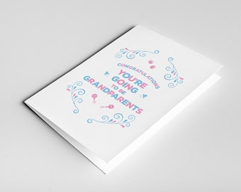 You're going to be Grandparents Card - Great Grandparents, Pregnancy Reveal to Grandparents, Pregnancy Announcement Grandparents, Expecting