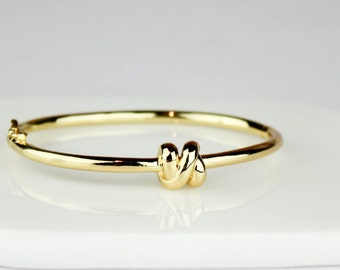 Knot Bangle, Knot Bracelet, Bridesmaid Gift, Tie the Knot jewelry,  Gold Knot Bangle, Bridesmaid Gift, Bridesmaid Jewelry