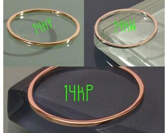 14K Gold Ring, 14k Square Ring, 14k Square Band, 14k Stack Rings, 14k Wedding ring, 14k Midi Ring, 14k Thumb ring, 14k Skinny Ring