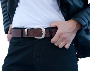 Men's and Women's Brown Leather Money Belt | Travel Belt