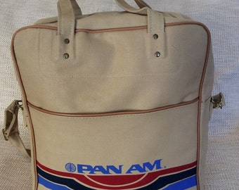 Genuine vintage PAN AM carryon travel bag