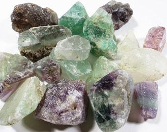 Natural Raw Rainbow Fluorite Gemstone Chunk, Raw Purple Aqua Fluorite Gemstone, Rough Fluorite Gemstone Nugget, Raw Uncut Undrilled Gem