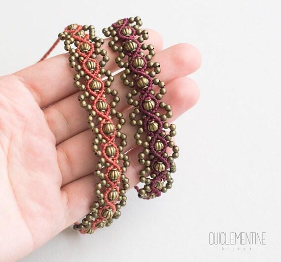 Gipsy ethnic bohemian handmade bracelet, native unique earthy bracelet, alternative pixie elf macrame bracelet, gipsy jewelry, textile art