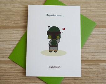 Boba Fett Love Card