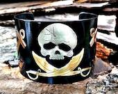 Pirate Skull Cuff, Pirate...