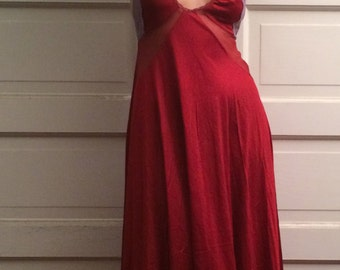 Vintage, 1970's Red and purple Maxi Slip