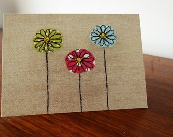 Mixed Daisies Greeting Card