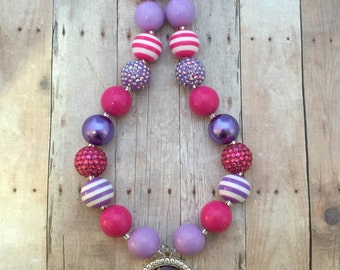 Doc McStuffins Chunky Necklace-Doc Chunky Necklace- Doc McStuffins Bubblegum Necklace-Doc Bag Chunky Necklace-Doc McStuffins Birthday