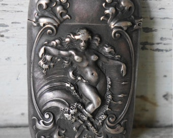 Art Nouveau Sterling Venus Match safe / Vesta ACF