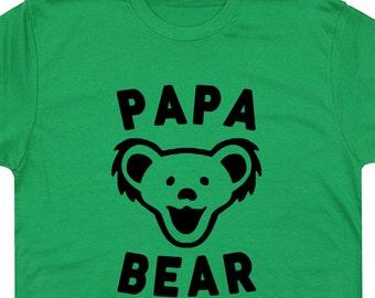 Papa Bear T Shirt Best Dad Ever T Shirt Vintage Grateful Dead T Shirt Phish T Shirt Worlds ...