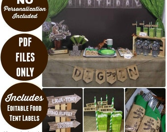 Jurassic World Inspired | Dinosaur Party Printable | Dinosaur Birthday | INSTANT DOWNLOAD | Dinosaur Decorations | Epic Parties by REVO