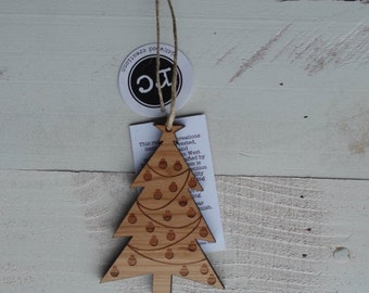 Christmas Tree Rustic Modern Ornament