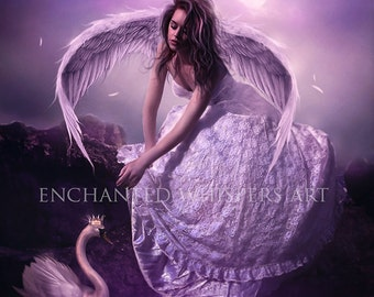 fantasy angel art print