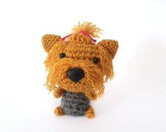 Amigurumi crochet Yorkshire Terrier, Yorkie Puppy, Dog toy.