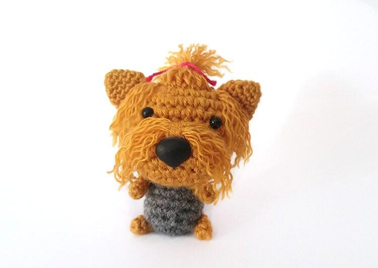 Amigurumi Crochet Yorkie : Amigurumi crochet Yorkshire Terrier Yorkie Puppy Dog toy.