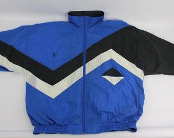 Vintage LARGE Bill Blass Mens Windbreaker Jacket