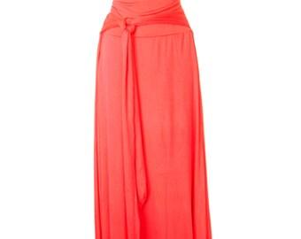 Women's Plus Size floor length Skirt Watermelon jersey knit skirt. Small to 6X.